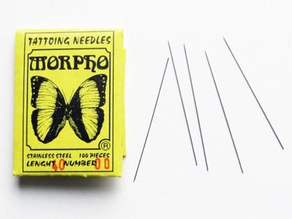 Tattoo spelden Morpho zonder kop maat 00 1