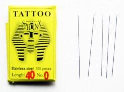 Tattoo spelden Morpho zonder kop maat 0