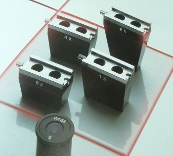 Groothoek micrometer-oculair WF 10x 1