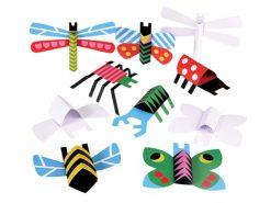 Bug01 Mapje met 10 kartonnen insecten