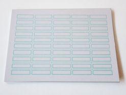 KHM555 Etikettenvel klein blauw 5 stuks